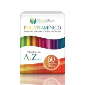 Polivitamínico de A a Z - 1000 mg - 60 cápsulas - Nutreflora -