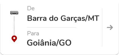 Barra do Garças (MT) para Goiânia (GO)