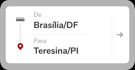 Brasília (DF) para Teresina (PI)