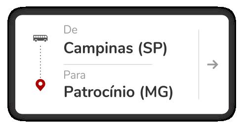 Campinas (SP) - Patrocínio (MG)