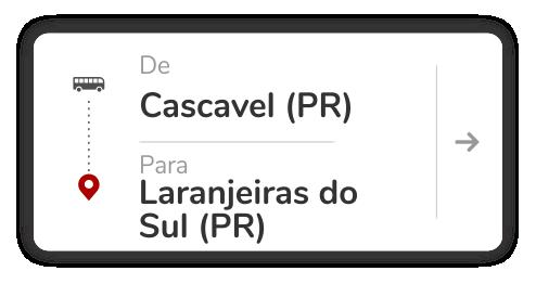 Cascavel (PR) - Laranjeiras do Sul (PR)