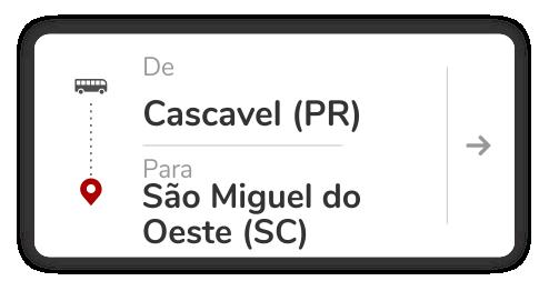 Cascavel(PR) - São Miguel do Oeste (SC)