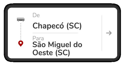 Chapecó (SC) - São Miguel do Oeste (SC)