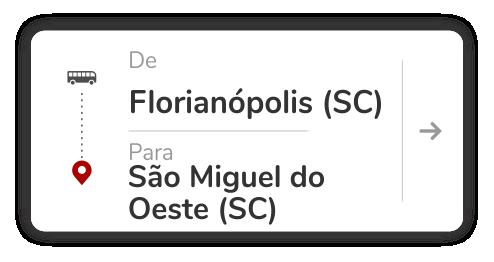Florianópolis (SC) - São Miguel do Oeste