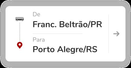 Francisco Beltrão PR - Porto Alegre RS