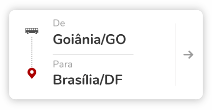 Goiânia (GO) para Brasília (DF)