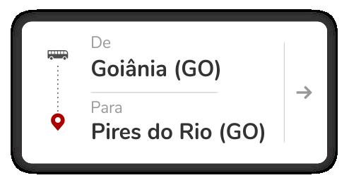 Goiânia (GO) - Pires do Rio (GO)