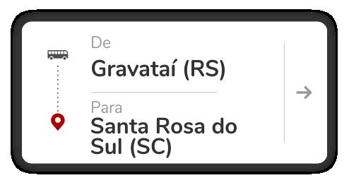 Gravataí (RS) - Santa Rosa do Sul (SC)