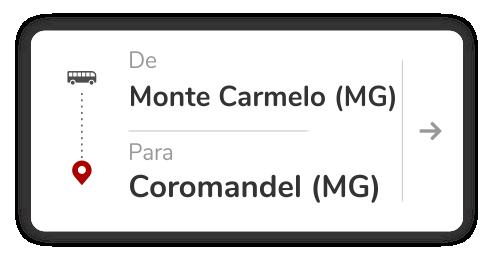 Monte Carmelo - MG para Coromandel - MG