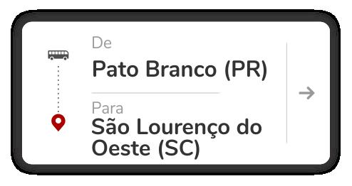 Pato Branco (PR) - São Lourenço do Oeste (SC)