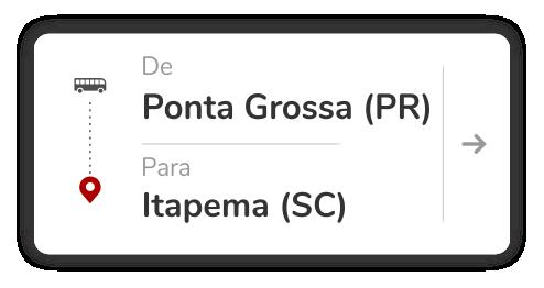 Ponta Grossa (PR) - Itapema (SC)