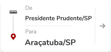 Presidente Prudente (SP) para Araçatuba (SP)
