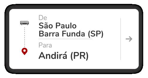 São Paulo Barra Funda (SP) – Andirá (PR)