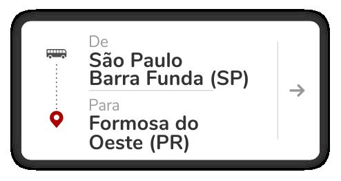 São Paulo Barra Funda (SP) – Formosa do Oeste (PR)