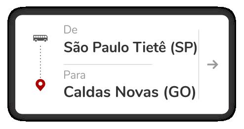 São Paulo Tietê (SP) - Caldas Novas (GO)