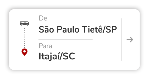 São Paulo Tietê (SP) – Itajaí (SC)