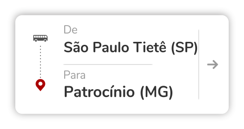 São Paulo Tietê (SP) - Patrocínio (MG)