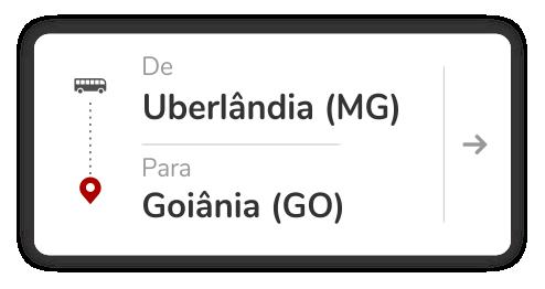 Uberlândia (MG) para Goiânia (GO)