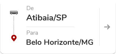 Atibaia (SP) para Belo Horizonte (MG)