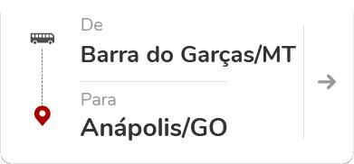 Barra do Garças MT - Anápolis GO