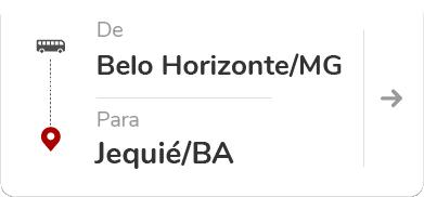 Belo Horizonte (MG) para Jequié (BA)