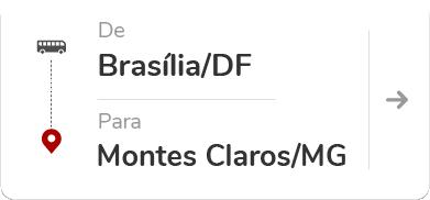Brasília (DF) para Montes Claros (MG)