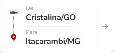 Cristalina (GO) para Itacarambi (MG)