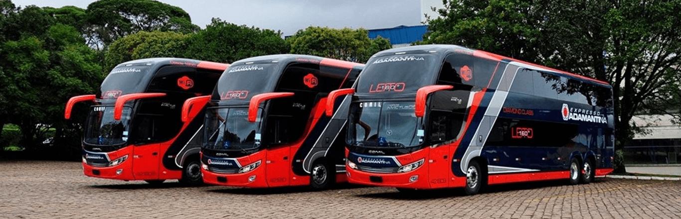 Frota de ônibus Expresso Adamantina