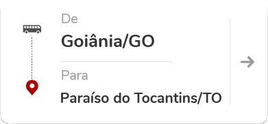 Goiânia (GO) para Paraíso do Tocantins (TO