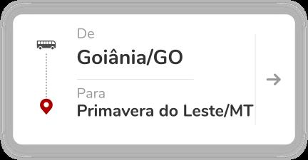 Goiania GO - Primavera do Leste MT