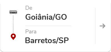 Goiânia (GO) para Barretos (SP)