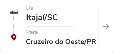 Itajaí (SC) – Cruzeiro do Oeste (PR)