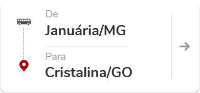 Januária (MG) para Cristalina (GO)