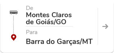 Montes Claros de Goiás (GO) – Baarra do Garças (MT)