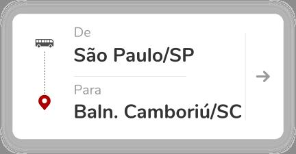 São Paulo SP - Balneário Camboriú SC