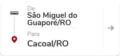 São Miguel do Guaporé RO - Cacoal RO