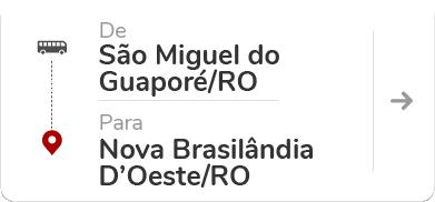 São Miguel do Guaporé RO - Nova Brasilândia D'Oeste RO