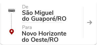 São Miguel do Guaporé (RO) – Novo Horizonte do Oeste  (RO)