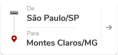 São Paulo - Tietê (SP) para Montes Claros (MG)
