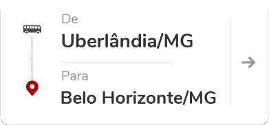 Uberlândia (MG) para Belo Horizonte (MG)