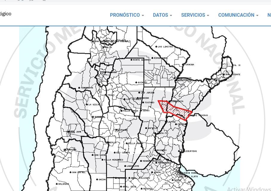 Alerta meteorológica para siete ciudades de Corrientes/ Titulares de Corrientes