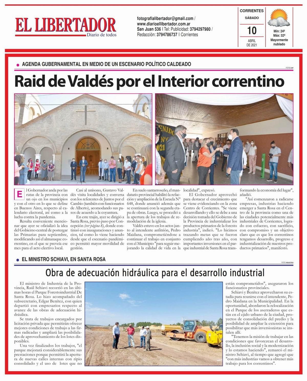 Portada y contraportada 10 de abril de 2021/ Titulares de Corrientes