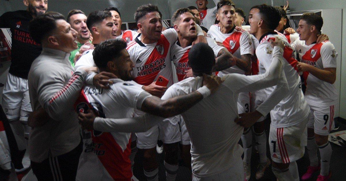 El festejo íntimo de River por la clasificación /Titulares de Deportes