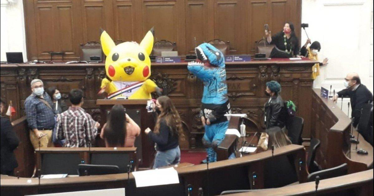 Debatieron la reforma constitucional en Chile y se disfrazó de Pikachu en el Congreso para dar un mensaje– Titulares