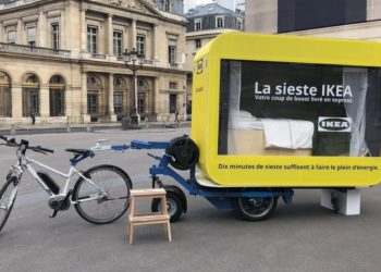 La bicicleta eléctrica de IKEA con cápsula para echarse la siesta | Motor