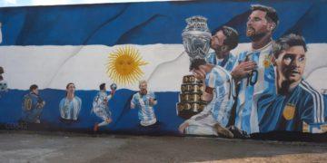 El impresionante mural de Messi en Córdoba /Titulares de Deportes