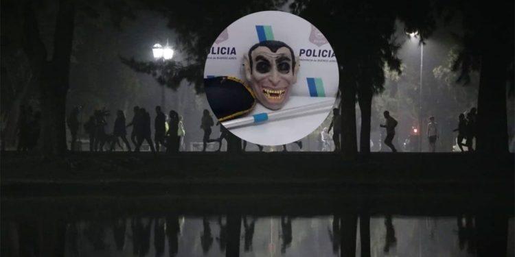 Fue arrestado por acechar y acosar a los atletas con una máscara de vampiro./Titulares de Policiales en Mendoza