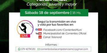 Con más de 20 participantes, este sábado será la gran final de «Corrientes Baila» – Corrientes Noticia/ Titulares de Corrientes