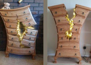 Un ebanista retirado se vuelve viral con sus muebles rotos de dibujos animados, perfectamente funcionales | Life
