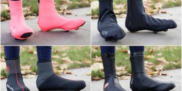 Mejores chanclas de ciclismo 2021 |  Cubrezapatos impermeables para mantener los pies calientes y secos / Titulares de Bicicletas